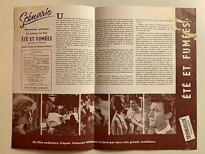 Synopsis Paramount // Ete Et Fumees / Geraldine Page - Laurence Harvey