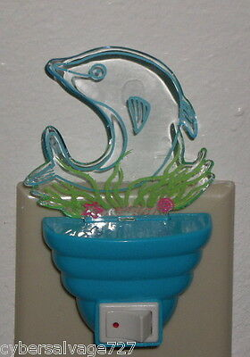 Nautical Dolphin In Weeds LED Night Light Great to light any Room Nite Light