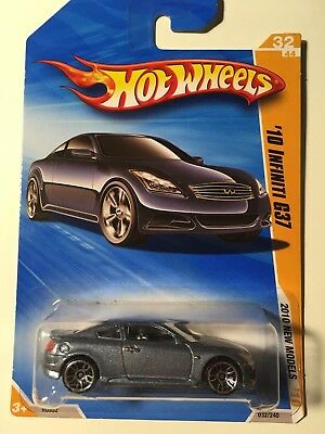 Hot Wheels Infiniti G37 2010 Blue Coupe New