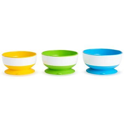 Suction Cup Bowls Munchkin Stay Put Bowl Baby Food Infant Feeding BPA Free 3 CT