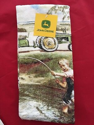 John Deere 2 Pc Kitchen Towels Farm Tractor Kitchen Country Home Decor