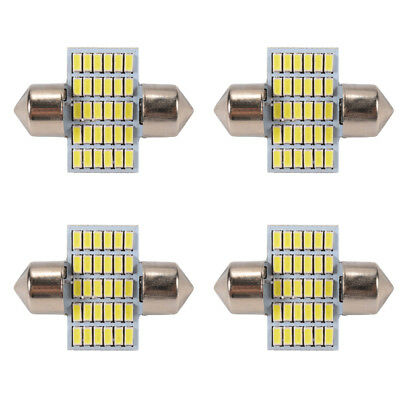 4x 31mm 24LED Canbus Auto Innenraumbeleuchtung Licht Lampe 6000K 12V Weiß MA1117