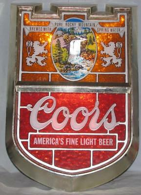 Coors Electric Beer Sign Made In USA Very Early Production Free Shipping