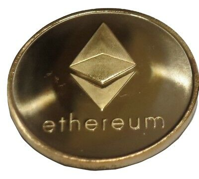 Ethereum Gold Plated Color Ethereum ETH Physical Cryptocurrency Novelty Coin