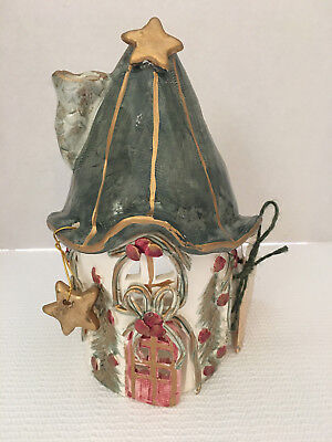Crazy Mountain Christmas Tea Light Votive Candle Holder Village House 2000