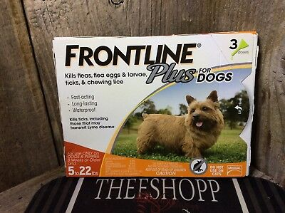 Frontline Plus For Puppies And Dogs 5-22lb 3 Month Supply New! EPA APPROVED FAST