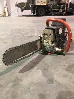 """ICS 14"""" 680GC Gas Diamond Chain Saw Package includes Guidebar & Chain Used"""