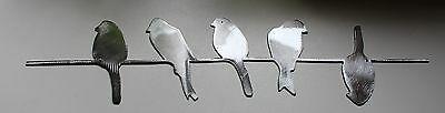 Birds on a wire Silver  Metal Wall Decor