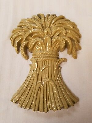 Vintage 1971 SEXTON Cast Iron Wheat Sheaves Wall Hanging #1571