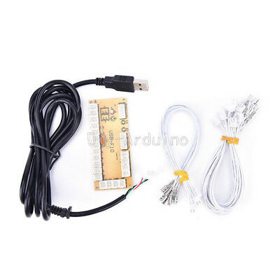 Zero Arcade Delay USB Encoder To PC Joystick +2Pin Buttons Wire+Rocker Cable Kit