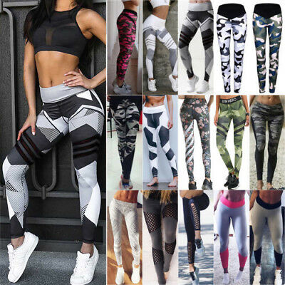 Womens Yoga Workout Gym Leggings Fitness Sports Trouser Tight Athletic Pants AU