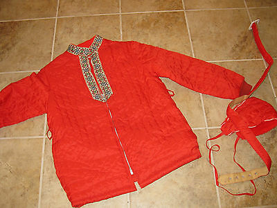 Girls Size Large 14 Red Vintage Coat **super Nice**