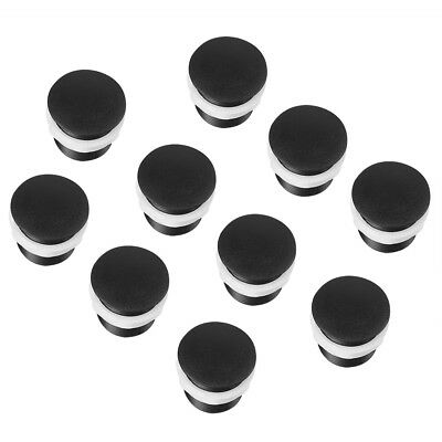 10pcs Black Arcade Machine Push Button Cover Cap Screw in Type for 28-35mm Hole