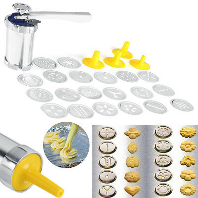 Cookie Press Kit Cookie Biscuit Machine Making Cake Decorating Tools Kitchen GL