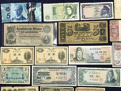 *** Old RARE Collection of Banknotes 1958-???  Vintage Currency Money ***