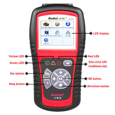 Autel AutoLink AL519 Auto Diagnostic Tool OBD2 CAN Car Code Reader Updatable New