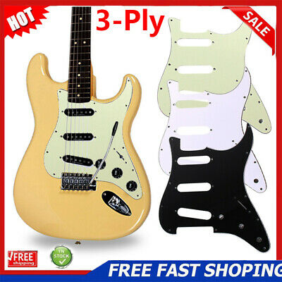 3-Ply SSS Stratocaster Guitar Pickguard Scratch Plate For Strat Electric Guitar