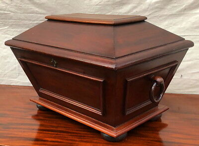 Antique Regency Styled Mahogany Cellarette Wine Box Stand