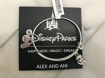 NWT Disney Parks Stormtrooper Bangle Bracelet by Alex and Ani - Star Wars Silver