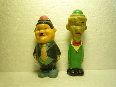 Vintage Little Figures Laurel And Hardy Stan And Ollie  Made In Croatia