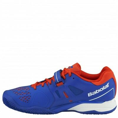 New Babolat Mens PROPULSE Clay M  Tennis Shoes  Blue Red
