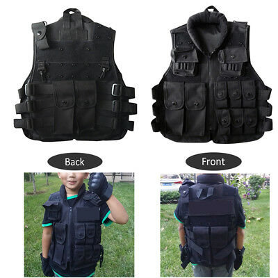 Tactical Kids/Children Nylon Vest Security Waistcoat Combat Protective Vest Boy