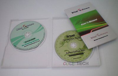 ARTCUT 2009 Pro Software for Sign Vinyl plotter cutting 9 Languages 2CD Cutter