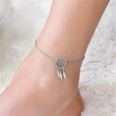Indian Dream Catcher Feather Ankle Chain Anklet Bracelet Foot Beach Jewelry
