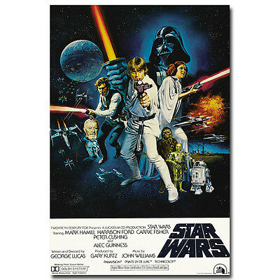 Star Wars Episode IV A New Hope Classic Movie Art Silk Poster 12x18 24x36 inch