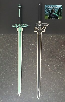 Sword Art Online Kirito Swords Elucidator & Dark Repulser Set-FREE sword stands