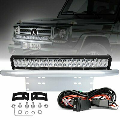 20 inch CREE LED Light Bar 23 inch License Mount Bull Bar Number Plate Frame