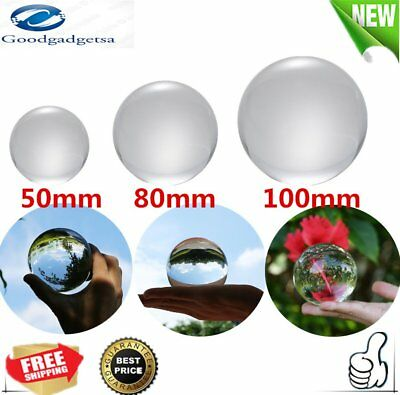 50mm/80mm/100mm Crystal Ball Quartz Glass Transparent Ball Spheres Glass Ball AG