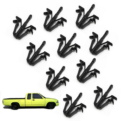 For Toyota Hilux Mighty-X Pickup 1988 1996 97 Grille Grill Moulding Clip Black
