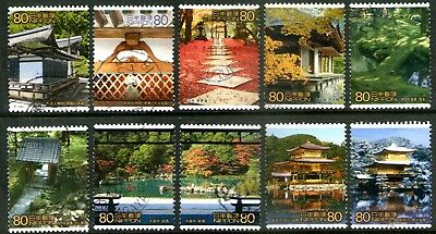 Japan 2001 2nd World Heritage Series 5th Issue set of 10 Fine Used