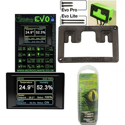 Microclimate Reptile EVO PRO Humidity Thermostat / Mount Bracket / Ultra Fuses