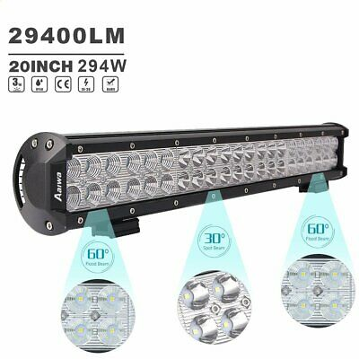 294W 20inch Cree LED Light Bar Flood Spot Combo Offroad Driving 4WD Lamp 4x4 SUV