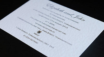 25 Wedding Invitations / Evening Invites Personalised & Handmade with Envelopes