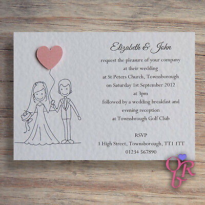 Personalised Wedding Invitation Sample - Any of my Designs Occasions by Rebecca