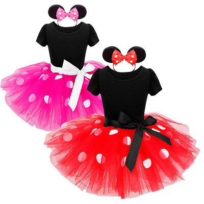 US Stock Toddler Baby Kids Girls Princess Cartoon Cosplay Tulle Party Tutu Dress
