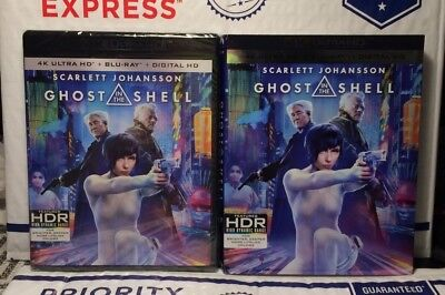 New Ghost In The Shell On 4K Ultra Hd+Blu-Ray+Digital Hd! With Slipcover! Seal