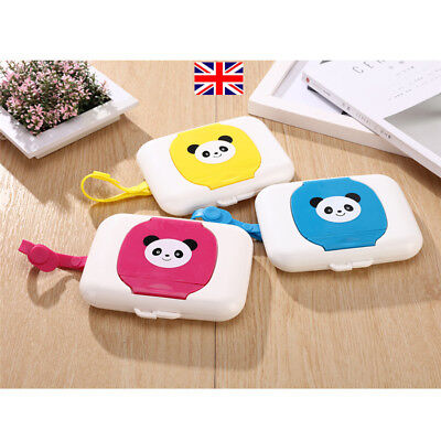 Baby Travel Wipe Case Wet Wipes Box Dispenser Box Storage Lovely Bear Holder UK