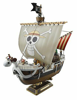 Bandai ONE PIECE Going Merry Ship Plastic Model kit w/ 6 small figures Japan