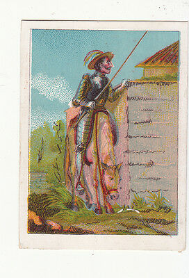 Foreign Soldier on White Horse near Wall  No Advertising Vict Card c1880s