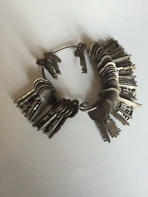 Over 30 Vintage Keys Sargent & Greenleaf Rochester NY 71 Old Collectible on Ring