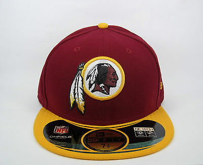 New Era Men's NFL Washington Redskins On-Field Game 5950 Fitted Cap - Size 7 3/8