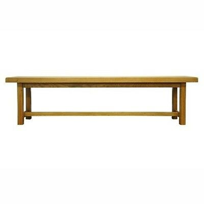 Oak Bench Durable Natural Style Contemporary Home Kitchen Dining Room Furniture