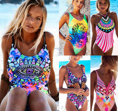 Women Sexy One piece Floral Bikini Push-Up Padded Swimwear Swimsuit Bathing suit