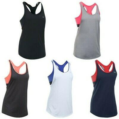Under Armour Womens HeatGear 2-In-1 Tank Top - New UA Ladies Training Vest