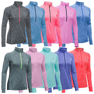 2018 Under Armour Womens Tech Twist Half Zip Top - New UA Training Pullover Golf
