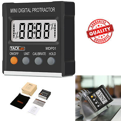 Digital Protractor Magnetic Angle Gauge Level Finder Bevel Measurement Tool Box